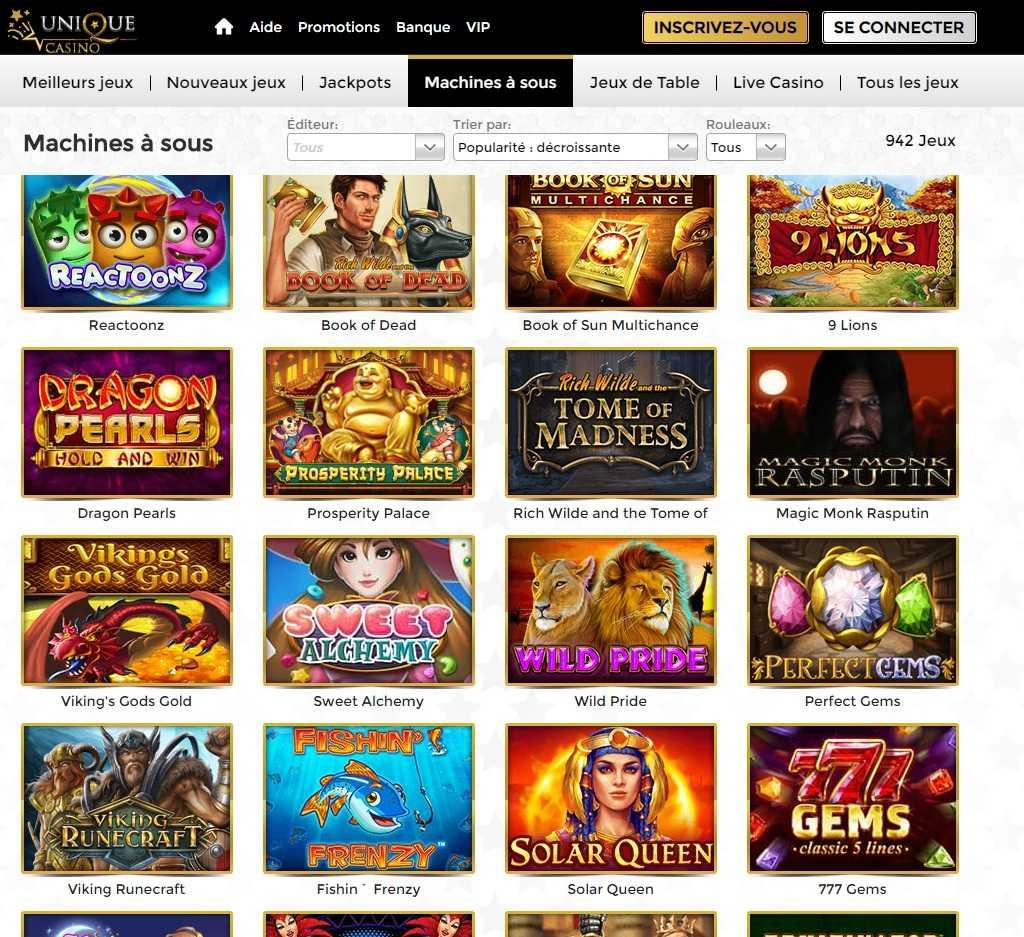 casino unique avis